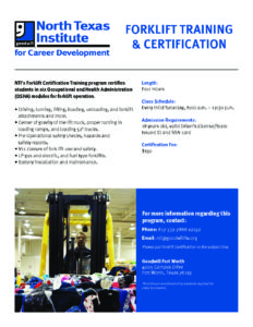 Forklift Certification Goodwill Industries Fort Worth