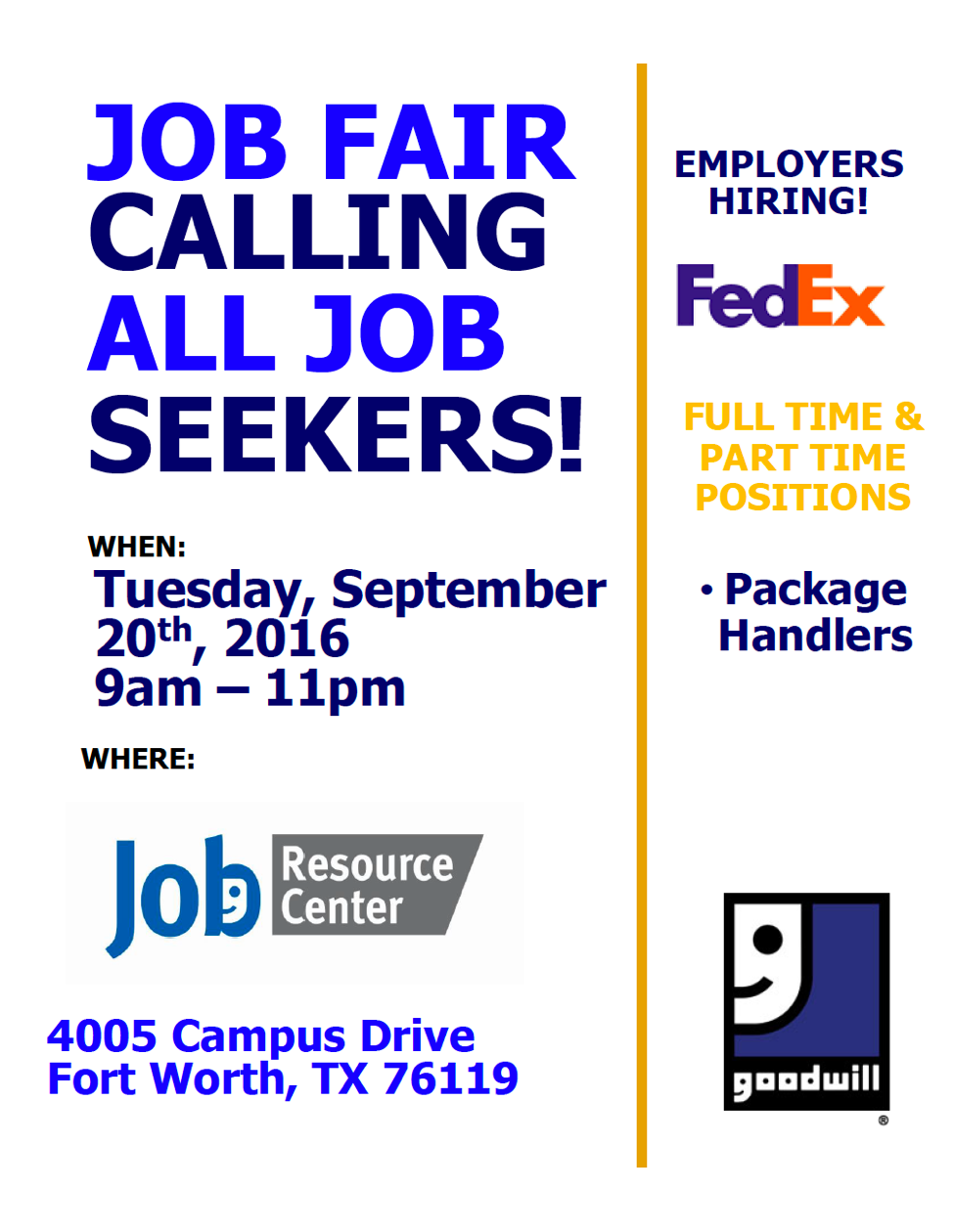 Goodwill Job Fair!
