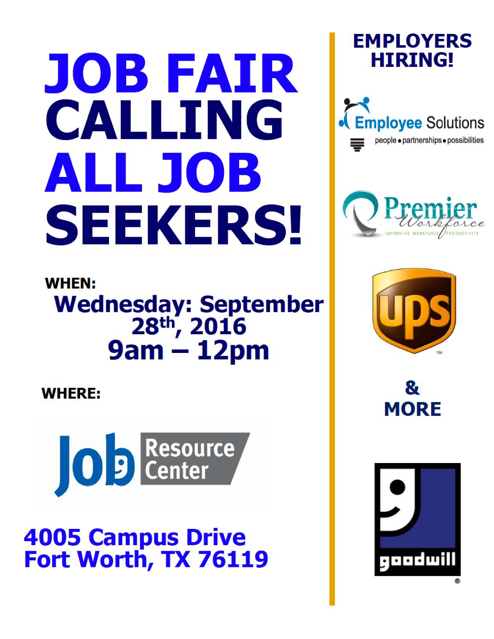 9/28 Job Fair!