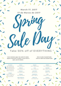 March Sale Day Flyer
