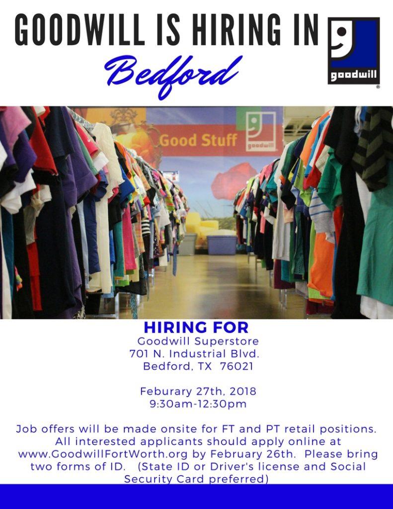 Goodwill Bedford Job Fair Goodwill Industries Fort Worth