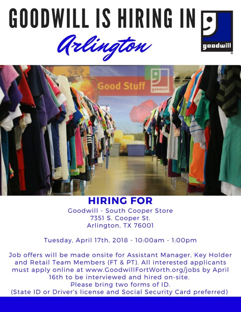 Copy-of-S.-Cooper-Hiring-Event-791x1024 Goodwill Job Application Form Online Th Street on