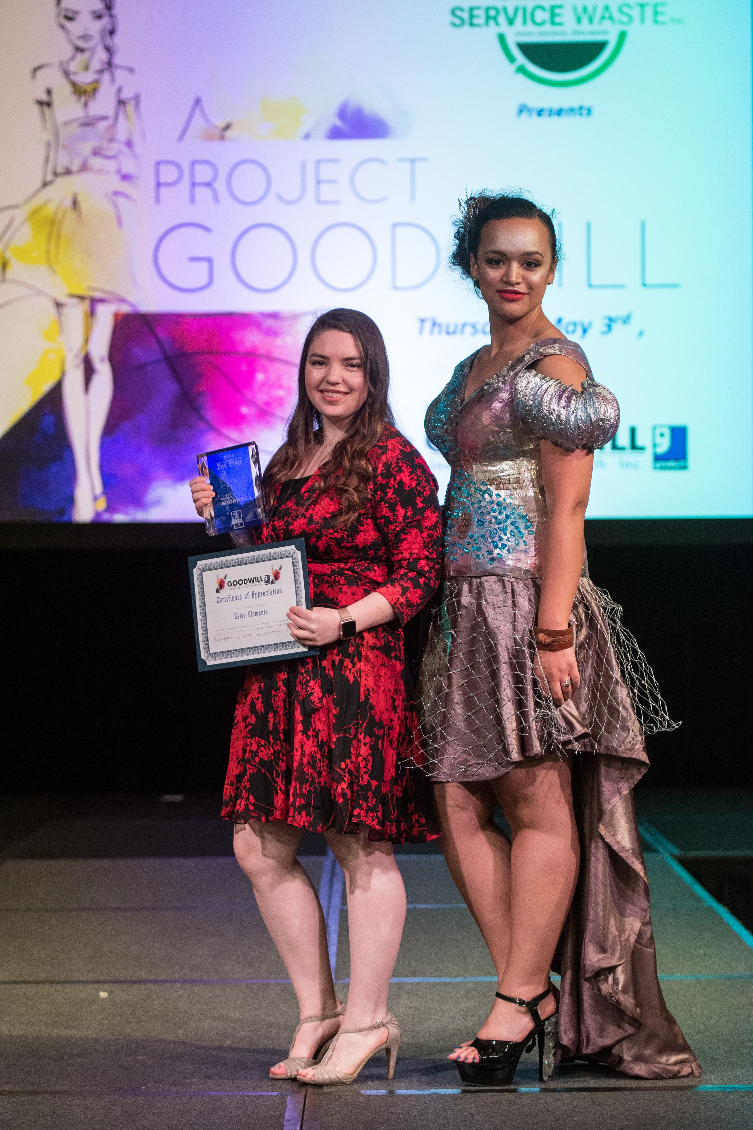 Second Place - Designer Kelse Clements and model Krystal Joiner
