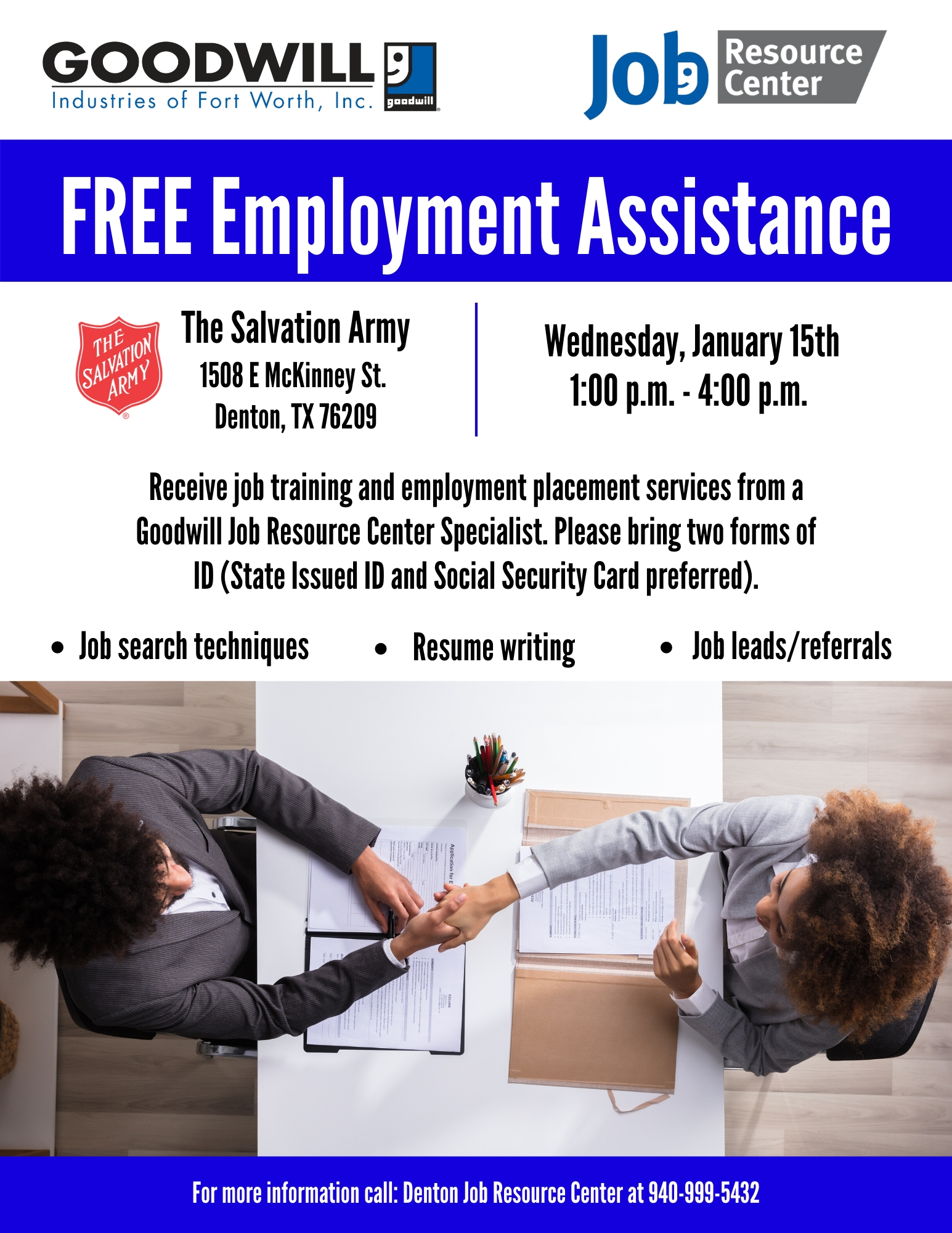 Employment Assistance At The Salvation Army Goodwill Industries Fort Worth